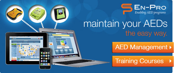 En-Pro. Enabling AED Programs. Maintain your AEDs the easy way. AED Management & Training Courses.
