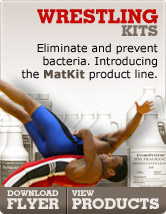 Wrestling Kits - Eliminate and prevent bacteria. Introducing the MatKit product line.